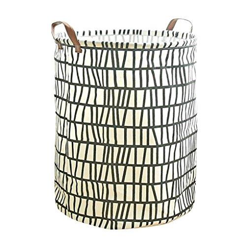 YJYDADA Cotton Linen Waterproof PE Coating Storage Basket Sundries Storage Box - Jumbo Air Tote