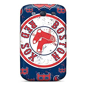 Anti-Scratch Hard Phone Cases For Samsung Galaxy S3 With Customized Vivid Boston Red Sox Series InesWeldon