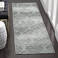 Safavieh Paradise Collection PAR337-2710 Seafoam and Grey Runner, 22 x 8