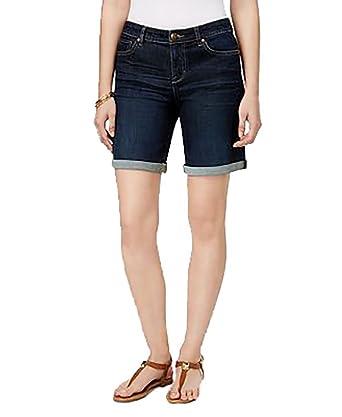 8d7725c30fd8 Petite Cuffed Denim Shorts (Caneel, 2P) at Amazon Women's Clothing store: