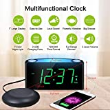 Vibrating Loud Alarm Clock with Bed Shaker for