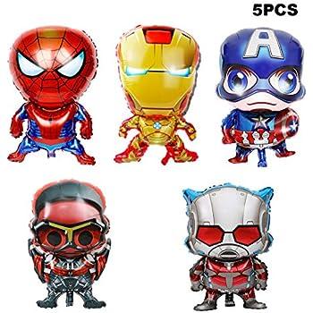 Amazon.com: Bsstr - Globos de superhéroe para decoración de ...