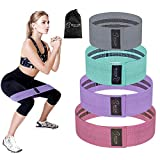 Resistance Bands Set of 4 Levels,BESTOPE Exercise Bands for Legs and Butt,Fabric Sports Bands Hip Workout Bands Premium Activate Glutes and Thighs,Elastic Exercise Band Fitness Bands for Men & Women