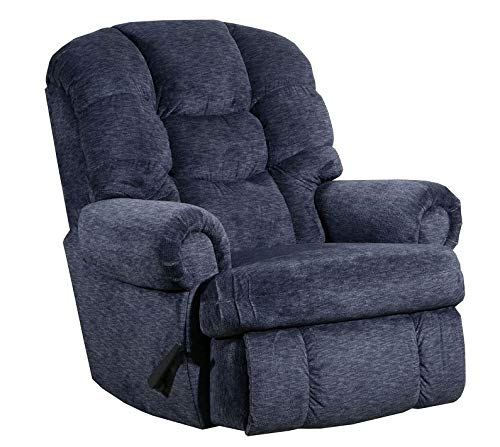 (Lane Stallion Big Man Comfort King (Large) (Rocker) Recliner in Torino Blue Depths. Made for The Big Guy Or Gal. Rated for Up to 500 Lbs. Extended Length. 79 Inches. Seat Width. 25 Inches. 4501L)