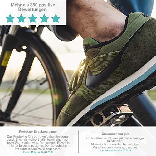 Sneaker Cleaner - kit de nettoyage pour chaussures, 250ml d'agent nettoyant avec 2 brosses pour matériaux sensibles et… 2