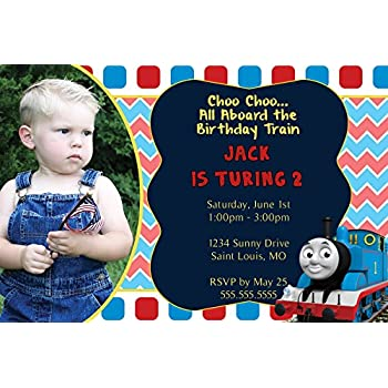 Amazoncom Custom Thomas the Train Birthday Invitation With