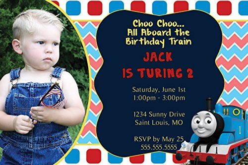 Custom - Thomas the Train Birthday Invitation - With Photo Option