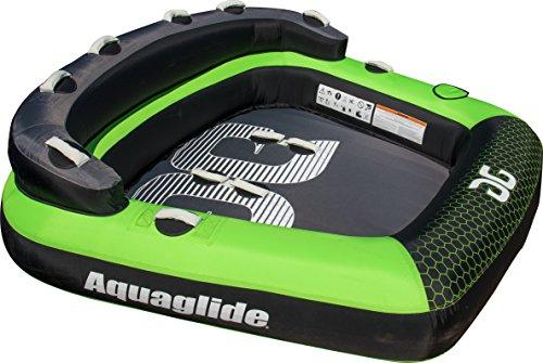 Aquaglide Tube (Aquaglide Supercross 3 Wedge Shape Towable Tube, Green, 70 x 79