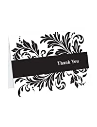 Hortense B. Hewitt Wedding Accessories Thank You Note Cards, Damask Flourish, Pack of 50 BOBEBE Online Baby Store From New York to Miami and Los Angeles