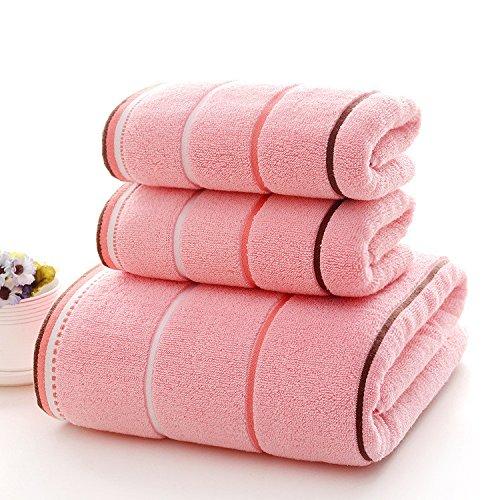 mmynl 10 piece-water absorción de toallas de algodón puro de adulto, color rosa: Amazon.es: Hogar
