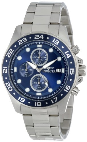 Invicta Men's 15205 Pro Diver Chronograph Blue Dial Stainless Steel Watch ()