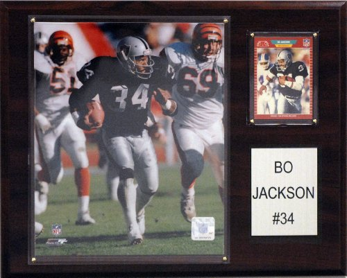 - NFL Oakland Raiders Bo Jackson Player Plaque