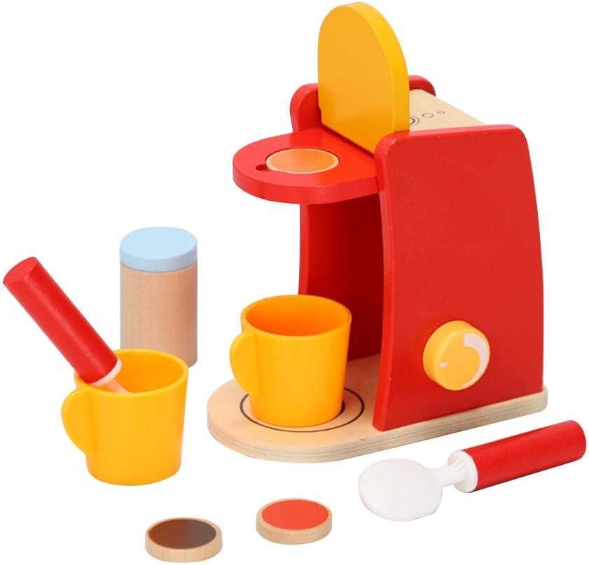 ranninao Máquina De Café Juguete Infantil,Máquina de café de Madera Play House Toys Desayuno Tarde Té Educación temprana Simulación Juguetes educativos: Amazon.es: Hogar