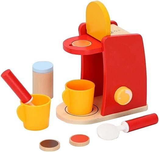 Pequeña máquina de café de Madera, Accesorios de Cocina para niños ...