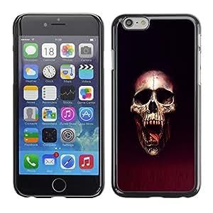 LECELL--Funda protectora / Cubierta / Piel For iPhone 6 -- Cráneo Blood Vampire --