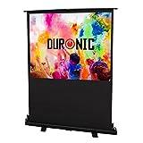Duronic Projector Screen FPS60/43-60' Floor Projector Screen | School | Theatre | Cinema | Home - (Brilliant White Screen: 122cm(w) X 91cm(h) Portable Freestanding 4:3 Widescreen