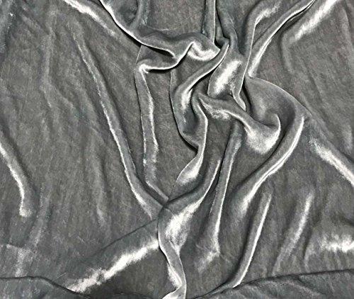 Silver Gray - Silk Velvet Fabric