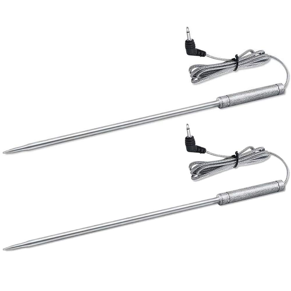 Upgraded 8 Inches Meat Thermometer Probe Replacement Temperature Probe for Thermopro TP20 TP17 TP16 TP10 TP09 TP08 TP-08S TP-07 TP06S TP04, Famili MT004 OT007 OT009 OT-08, Fit Listed Models Only by eBasics