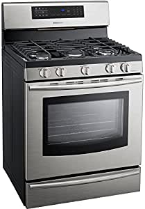 "Samsung FX710BGS 30"" Stainless Steel Gas Sealed Burner Range - Convection"
