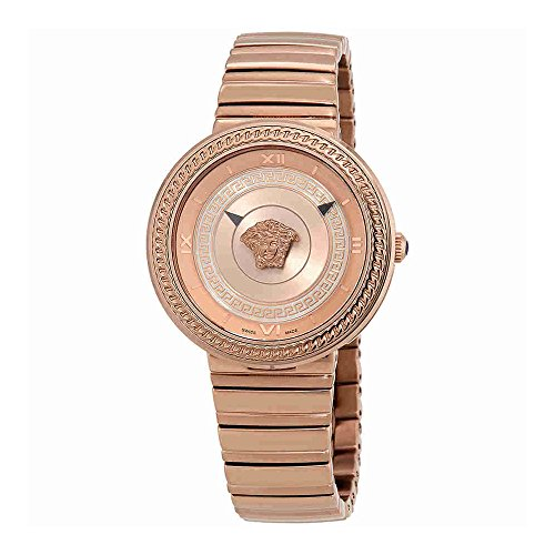 Versace V-Metal Icon Ladies Rose Gold Tone Watch VLC14 0017