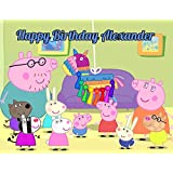 Peppa Pig Edible Image Photo Cake Topper Sheet Personalized Custom Customized Birthday Party - 1/4 Sheet - 78592 by Sweet Custom Cakes