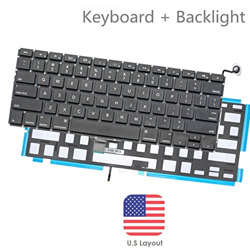 BESTeck Backlight A1278 Keyboard Replacement with Backlit for MacBook Pro 13'' 2009-2015 Years US Layout MD313 MD314 MC374 MC375 MB466 MB467 MC700 MC724 MB990 series Laptop (1 Year Warranty) by BESTeck