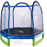 Sportspower MSC-84MFT-WM Bounce Pro 7′ My First Trampoline Hexagon or Kids
