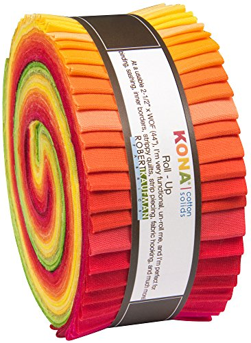 Christa Watson Kona Cotton Solids Designer Palette Series Roll Up 40 2.5-inch Strips Jelly Roll Robert Kaufman Fabrics RU-485-40 from Robert Kaufman Fabrics