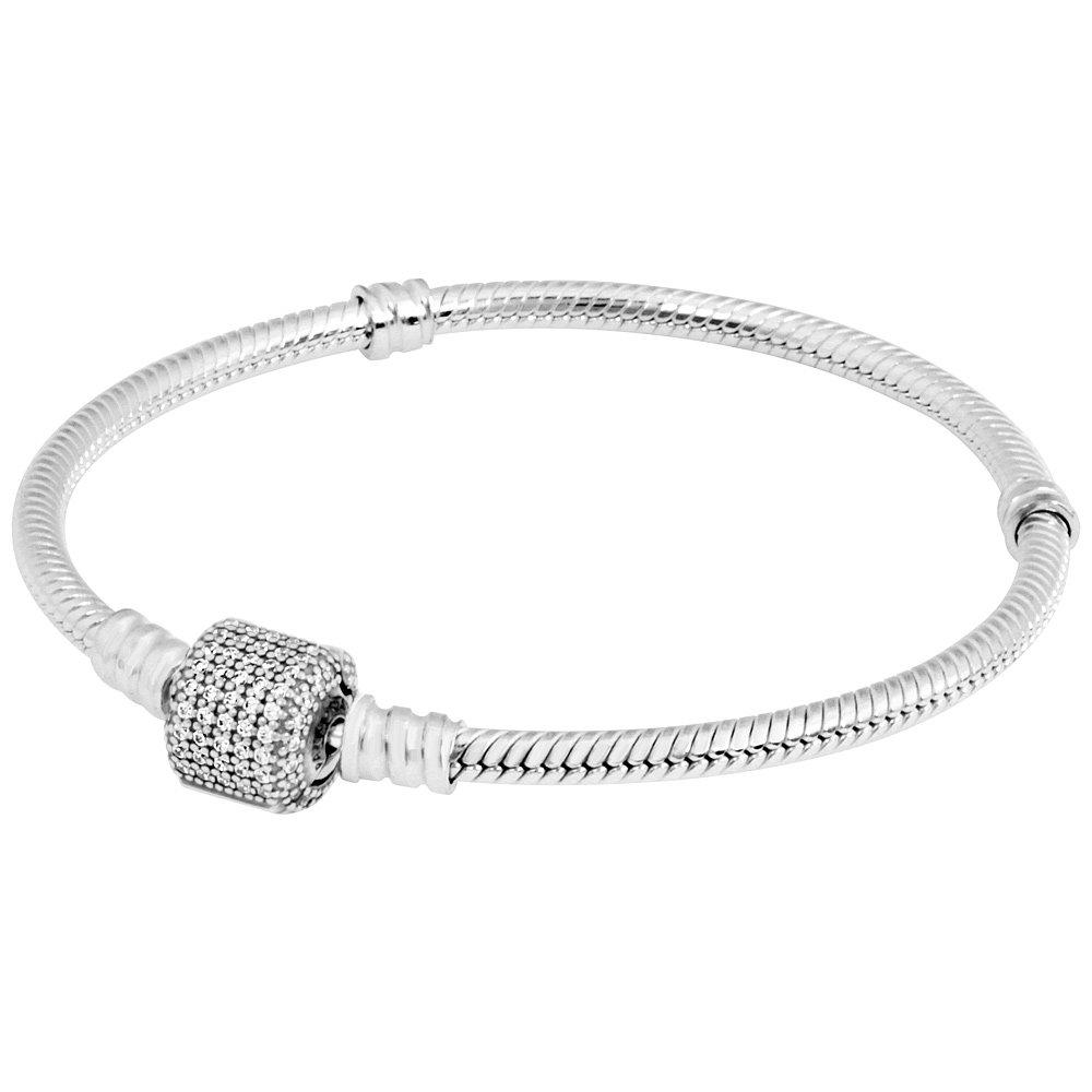 Pandora Silver Bracelet with Signature Clasp 590723CZ17