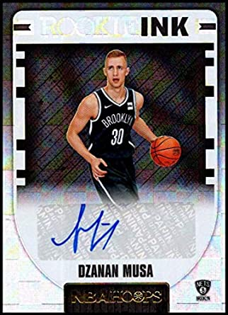 f935983a7 Amazon.com  2018-19 Panini Hoops Rookie Ink  29 Dzanan Musa NM-MT ...
