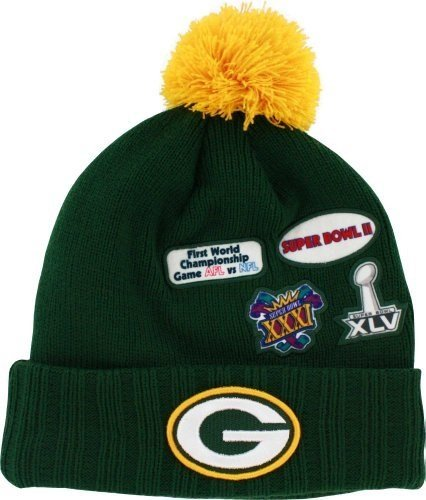 Super Bowl New Era Cuffed up Beanies (Packers) (Steelers Super Bowl Patches compare prices)