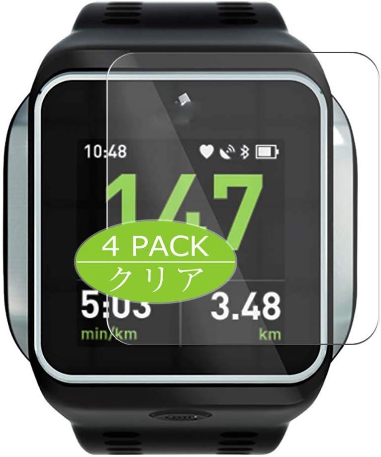 VacFun 4 Piezas HD Claro Protector de Pantalla para Adidas miCoach Smart Run, Screen Protector Sin Burbujas Película Protectora (Not Cristal Templado)