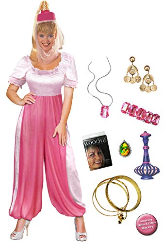 Jeannie the Genie Plus Size Halloween Costume Deluxe Kit (I Dream Of Jeannie Adult Costume)