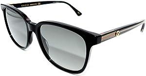 Gucci GG 0376S 001 Black Plastic Square Sunglasses Grey Gradient Lens