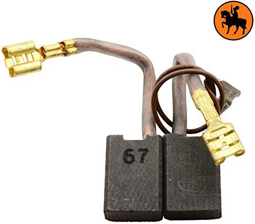 Balais de Charbon Buildalot Specialty ca-15-36035 pour Milwaukee Marteau 900K - 8x14x19,5mm - Avec Arrêt automatique, ressort, cable et connecteur - Remplace les pièces d'origine 4.931.375.556