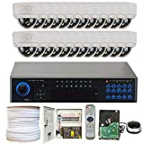 GW Security 4 Channel 1080P PoE NVR HD IP Security Camera System with 4 Indoor/ Outdoor 2.8-12mm Varifocal Zoom Night Vision 1080P Security Cameras Pre-Installed 1TB HDD Network Remote Access
