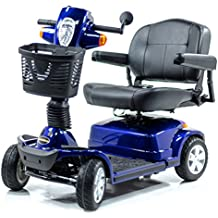 Pride MAXIMA Bariatric 4-wheel HD Electric Scooter BLUE + Challenger Mobility Trailer