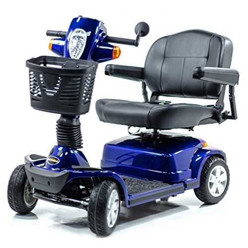 - Pride Maxima Bariatric 4-Wheel HD Electric Scooter Blue + Challenger Mobility Trailer