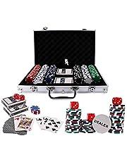 Doublefan Poker Chips Set, Heavy Duty 11.5 Gram Clay Poker Chips Set Texas Holdem Blackjack Gambling Chips Aluminum Case