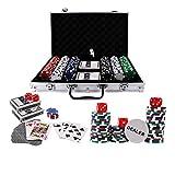 Doublefan Poker Chips Set, Heavy Duty 11.5 Gram Clay Poker Chips Set Texas