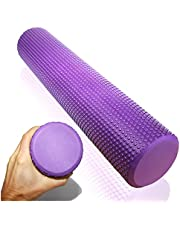 EasY-FoxY-ToY zachte fasciarol voor zelfmassage van fasciapijnbehandeling; Massageroller, Ø9,5cm x40cm paars; Professioneel trainingsapparaat voor triggerpoint-massage, rugpijntherapie