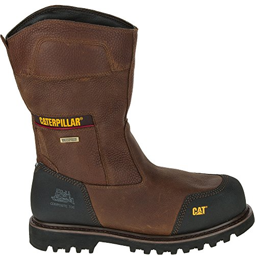11 Caterpillar W Waterproof On 5 Brown Boots Leather Toe Men's Configure Comp Work Pull p4qwpPWOZr