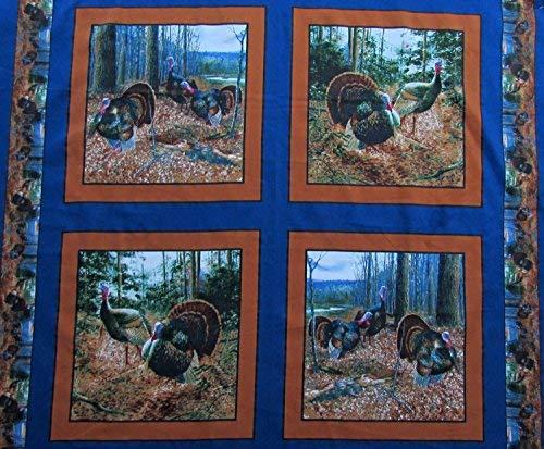 Turkey Fabric Pillow Panel