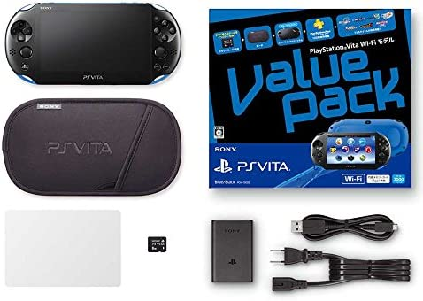 Amazon Com Playstation Vita Value Pack Wi Fi Blue Black Computers Accessories