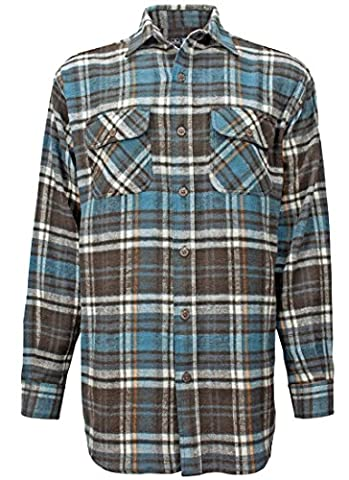 Canyon Guide Outfitters Men's Buffalo Plaid Flannel Button Down Long Sleeve Shirt (X-Large, - Canyon Guide