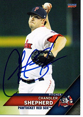 Chandler Shepherd 2017 Pawtucket Red Sox Signed Card