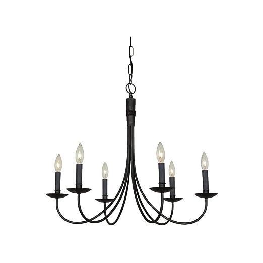 Amazon.com: Chandeliers - Lámpara de techo con 6 focos ...