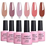 AIMEILI Soak Off UV LED Gel Nail Polish Multicolour/Mix Colour/Combo Colour Set Of
