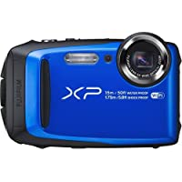 Fujifilm FinePix XP90 Waterproof Digital Camera (Blue) (International Model) No Warranty