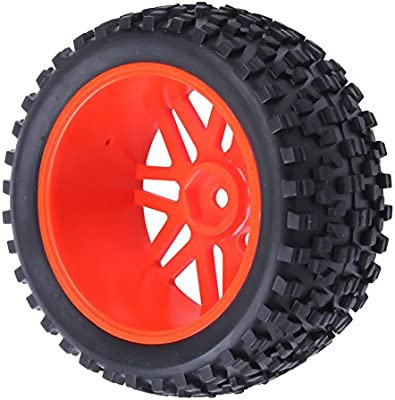 4pcs Front /& Rear Rubber Tires /& Wheel Rims Sets for RC Redcat 1//10 Buggy Shockwave Nitro Redcat Tornado S30 EPX HSP Backwash Warhead Replacement